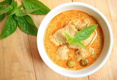 Fast & Easy Thai Coconut Curry with Fish, Tofu, and Greens | MyNetDiary