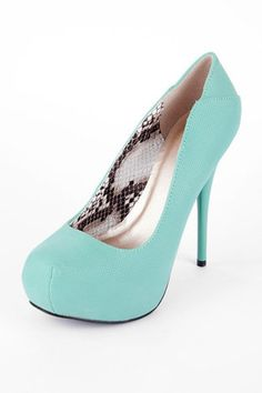 Bridesmaids shoes with beige/cream dress and this color jewelry. Neutral Pumps in Sea Green $48 at www.tobi.com