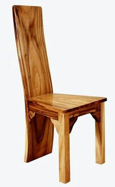 Rustic Furniture - chair, bench and table - Chair Design Rustic Chair, Solid Wood Dining Chairs, Wood Chairs, Rustic Table, Natural Wood Furniture, Rustic Furniture, Luxury Furniture, Bedroom Furniture, Wood Desk