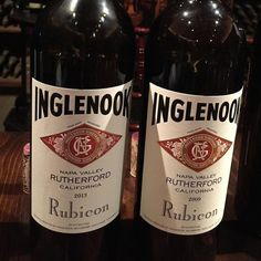 The labels may look the same but these 2 wines are completely different. #Inglenook Rubicon 2013 is much much better