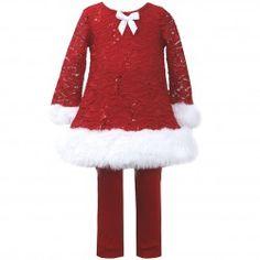 Bonnie Jean Christmas Dress Little Girls Spangle Red Lace Santa Legging Set Baby Girl Christmas Dresses, Baby Girl Dresses, Baby Dress, Girl Outfits, Baby Girls, Dress Set, Baby Baby, Santa Dress, Red Velvet Dress