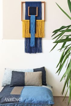 In this series of wall hangings I use picture frames from local thrift shops. Most of these are available on my Etsy shop. Macrame Wall Hanging Patterns, Macrame Art, Macrame Design, Macrame Projects, Macrame Patterns, Yarn Wall Art, Yarn Wall Hanging, Diy Wall Art, Diy Wall Decor