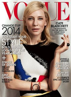 Cate Blanchett and Celine Cover January Vogue