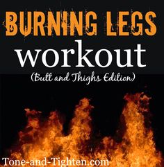 20-minute at-home video workout to set your legs and butt on fire!