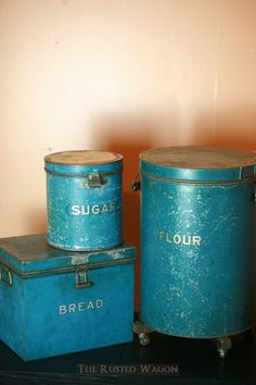 Simply beautiful 1920's canister set. I didn't know this was exactly what I wanted until I saw it... this set is prefect! If only I had the dough...