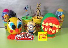 ❤ Looney Tunes Play Doh Surprise Eggs ❤