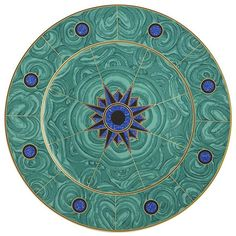 Tony Duquette for Mottahedeh Tony Duquette Green Malachite Charger | Gracious Style