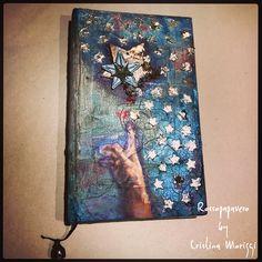 ALTERED BOOK MIX MEDIA #ROSSOPAPAVERO#ARTALCHEMY#ARTBASIC#FINNABAIR