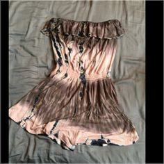 Strapless Ruffle Romper Size small/Med in juniors. Worn maybe twice. Strapless and stretchy light material. Rayon and spandex. The top of the ruffles has stretch just like the waist. Very comfortable and perfect for a hot day ☀️ Mulata Tops