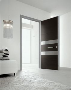 The ultimate finishing touch for any contemporary home: the modern Tekno collection of interior / exterior doors from Oikos. Home Door Design, Bedroom Door Design, Main Door Design, Bathroom Interior Design, Modern Interior Design, House Design, Interior Doors, Bathroom Designs, Bedroom Doors