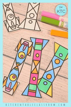 Paper Rocket Templates - The Kitchen Table Classroom Straw Rocket, Diy Rocket, Rocket Template, Paper Rockets, Make It Simple, Classroom, Templates, Straws, Lab