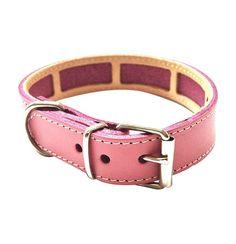 Collar Antiparasitario para perro Piel Vaquetilla Rosa Palo