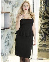 Simply Be Black Peplum Dress, $69 via SimplyBe.Com (View #2 of 2)
