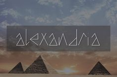 """Alexandria Typeface Fonts This font is also available in my latest bundle here: - http://crtv.mk/g0grHIntroducing **""""Alexan by Font & Graphic Land"""
