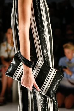 """""""Embellishment in the form of sequin stripes."""" Etro Spring 2013 RTW"""