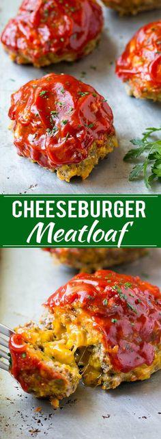 Cheeseburger Meatloaf Recipe   Individual Meatloaf   Mini Meatloaf   Bacon Cheeseburger Meatloaf Recipe