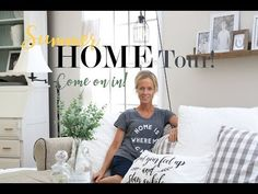 Join me as I walk through our farmhouse style home! Since we moved here twelve years ago, I think I have literally painted every surface at least once! Design Your Home, House Design, Fake Fireplace, French Style Homes, Old Barn Wood, White Cottage, Spacious Living Room, Cafe Interior, Home Reno