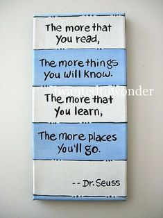This is a perfect Dr. Seuss canvas for a reading corner/nook. by mandy