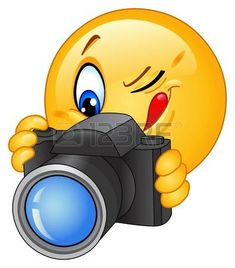 Illustration of Emoticon taking a photo vector art, clipart and stock vectors. Smiley Emoji, Funny Emoji Faces, Funny Emoticons, Smiley Face Images, Emoji Images, Emoji Pictures, Naughty Emoji, Emoji Love, Emoji Symbols