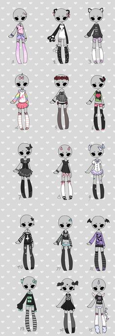 set price 3$ Outfit adoptables CLOSED by KimmyPeaches.deviantart.com on @DeviantArt