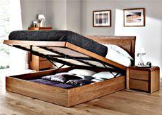 Otra opción muy utilizada es elegir camas que también puedan servir a modo de baulera donde guardar almohadas, acolchados o ¡todo lo que quieras!