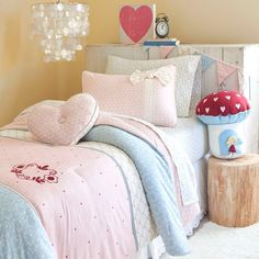 Frank + LuLu's In The Garden bedding collection, so cute for a girls bedroom!