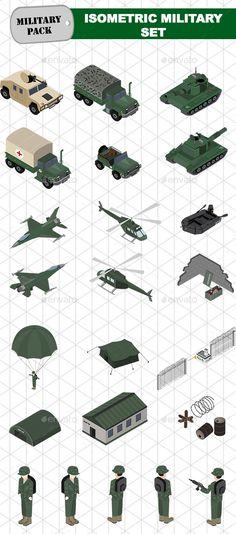 Isometric Military Set