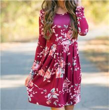 2537a2f78580a BAHEMAMI Maternity Pregnant dress Autumn Clothing Printing Will Pendulum  Multicolor Long Sleeve Dress ~ Click the