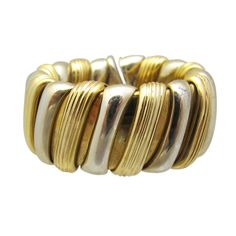 Bulgari Band | From a unique collection of vintage band rings at http://www.1stdibs.com/jewelry/rings/band-rings/