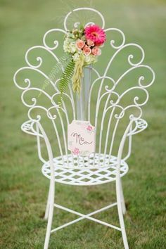 Pretty wrought iron chair {Photo: Simply Bloom Photography}