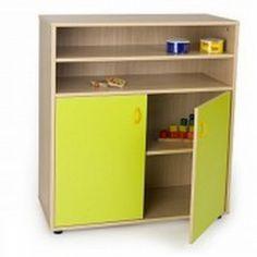Mueble escolar intermedio armario y estanteria
