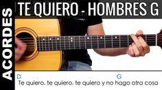 Como tocar TE QUIERO guitarra acústica acordes Hombres G como tocar guit...