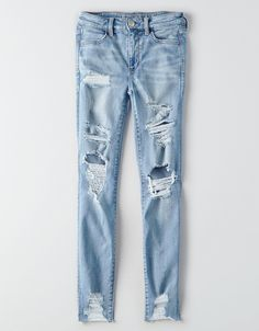 AEO Denim X Hi-Rise Jegging, Ice Woman | American Eagle Outfitters