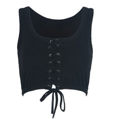 Black Lace Up Front Crop Top (1.285 RUB) ❤ liked on Polyvore featuring tops, crop tops, shirts, crop top, cotton crop top, lace up front top, laced up top and cotton shirts