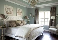 Sherwin Williams Silver Mist Paint Color~ our master bedroom & bath color. Love! i need to stop loving rooms