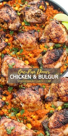 You will love this hearty chicken dish! It has a hint of zest, sweetness, and a kick of spice. It's the perfect healthy dinner recipe to add to your meal rotation.