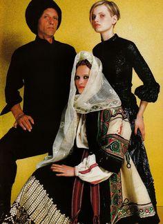 "Guinevere van Seenus in ""Paris Balkans"" by Mario Testino for Vogue Paris September 1999"