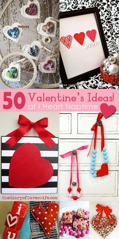 50 Valentine Crafts and Food | http://handmadegerardo.blogspot.com