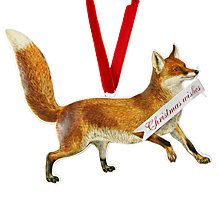 Buy John Lewis Ruskin House 'Christmas Wishes' Fox Bauble Online at johnlewis.com