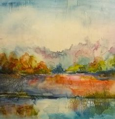 Abstracted Landscape I by abrushwithcolor on Etsy