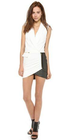 tuxedo wrap dress!