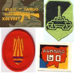 Military patches I used for Arular cover stencils