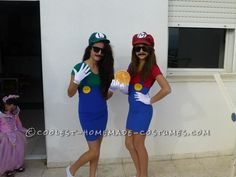 Simple Mario and Luigi Costume... This website is the Pinterest of costumes