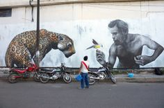 Evoca1 New Mural In Tarapoto, Peru