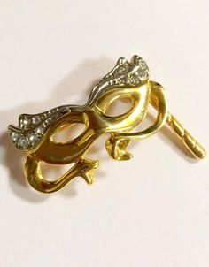 Rhinestone Brooch Opera Glasses Pin Masquerade Brooch Mask