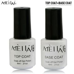 Smalto Gel UV Meilai Top Coat + UV Base Coat Gel Esmalte De Unas for UV Gel Polish Top It Off 30 Day Long Lasting Gel