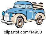 Blue And Tan Pickup Truck Clipart Illustration http://free.clipartof.com/details/138-Mad-Man-Reading-Newspaper-Free-Retro-Clipart-Illustration