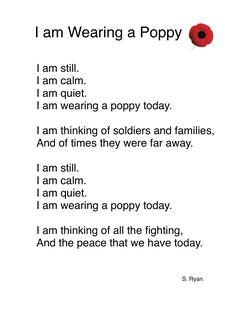 Remembrance Day Poem for Kindergarten