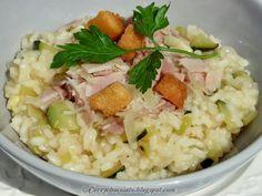#Arroz  con #calabacín y #jamón de York – #Ham and #zucchini #risotto