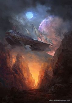 Conceptual Art by Viktor Fetsch this reminds me of Treasure Planet. Right? Cause I get Disney movies confuse xD anyone correct me if I'm wrong. ^ㅅ^